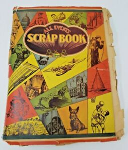 Antique-1930-039-s-High-School-Scrapbook-Packed-Full-Letters-Report-Cards-Pins-more