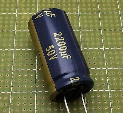 2 pezzi condensatore elettrolitici 2200 uf 50 v verticale