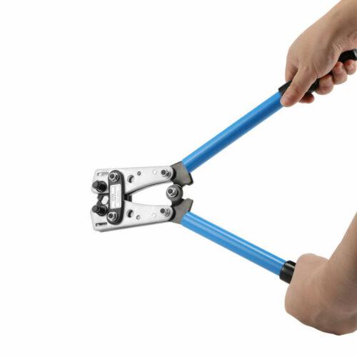 Crimpzange Presszange Kabelschuhe Crimper Sperrad Kabel Crimp Zange 6-50 mm² DHL