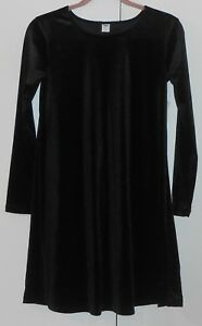 951e98d3306 WOMEN S OLD NAVY BLACK VELVET-KNIT SWING DRESS - SIZE XSMALL