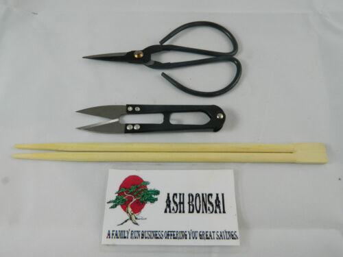 Black carbon 120mm 105mm x 2 potting sticks  Bonsai  tools  Set of 3