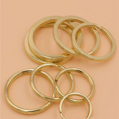 10X 10~38mm Brass Stainless Steel Split Rings Double Loop Key Ring Leather Craft