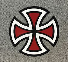 Independent Truck Cut Cross Skateboard Sticker 4in red si
