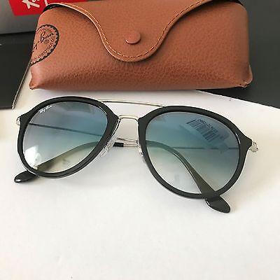 8e50c387d3d62 Ray Ban RB4253 6292  3F Black Silver Blue Gradient Mirrored Len Sunglasses  NWT
