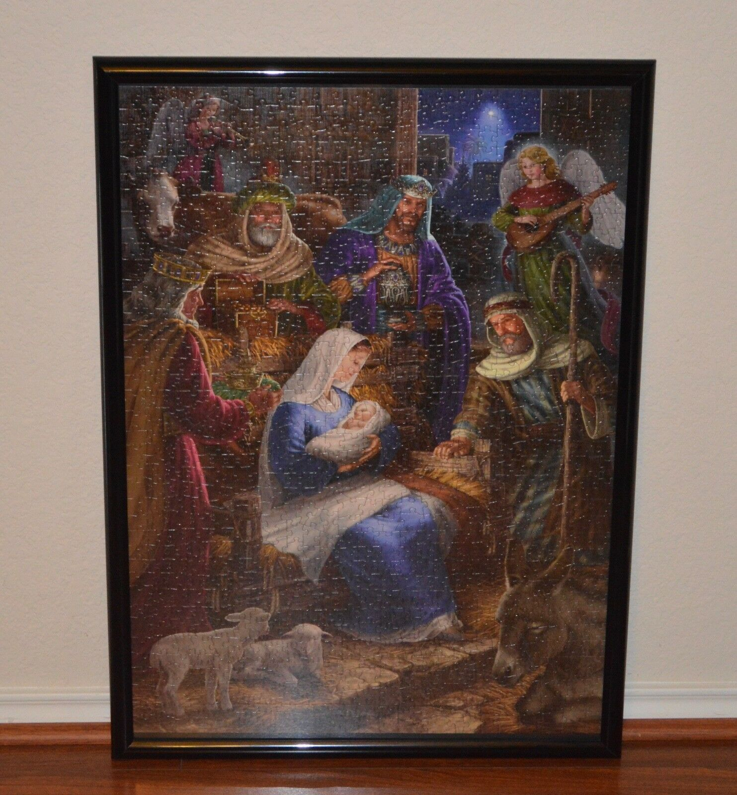 Cobble Hill Holy Night 1,000 Pieces Jigsaw Puzzle Assembled With Frame New
