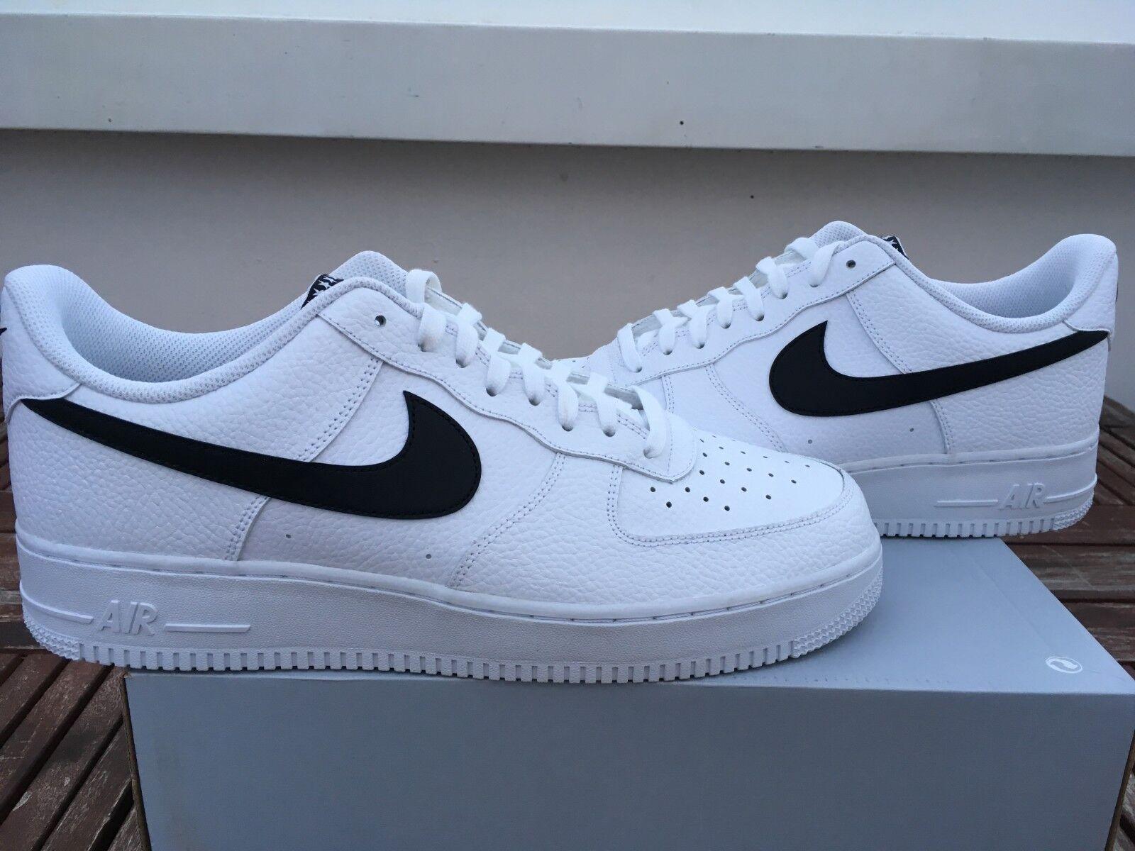 07 1 Air Nike Weiß Force Design Gutes US13 schwarz