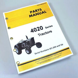 parts manual for john deere 4020 4000 tractor catalog assembly John Deere 4020 Clutch Diagram image is loading parts manual for john deere 4020 4000 tractor