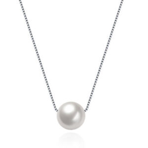 10mm-Genuine-Cream-Cultured-Freshwater-Pearl-Sterling-Silver-Pendant