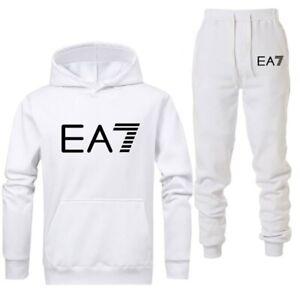 NUOVO-2019-EA7-Logo-Tuta-Da-Ginnastica-Moda-Uomo-Abbigliamento-sportivo-due-pezzi-Set-di-cotone