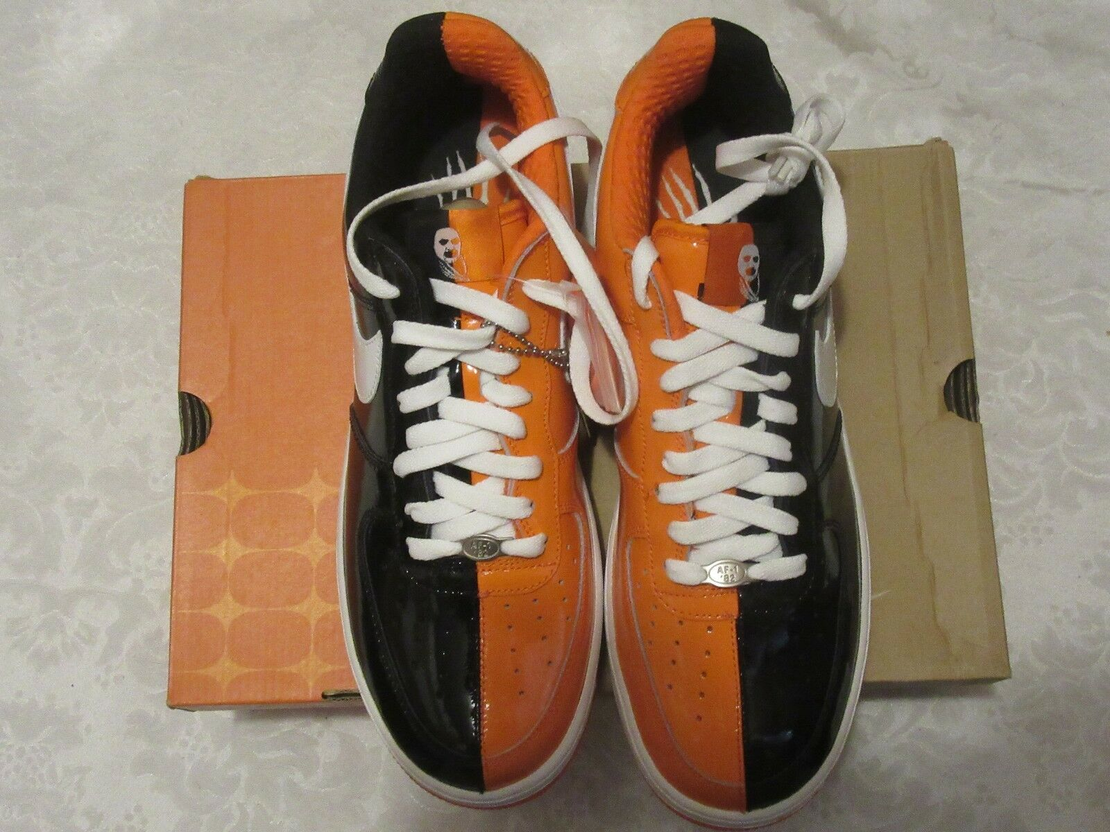 Nike air force 1 premium af1 halloween schwarz - orange sneaker 313641 011 größe 10,5 sneaker orange 854b7f