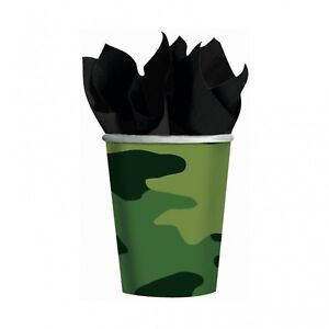 Camouflage-Military-Army-Greens-Party-Supplies-Camouflage-Party-Cups-8pk-270ml