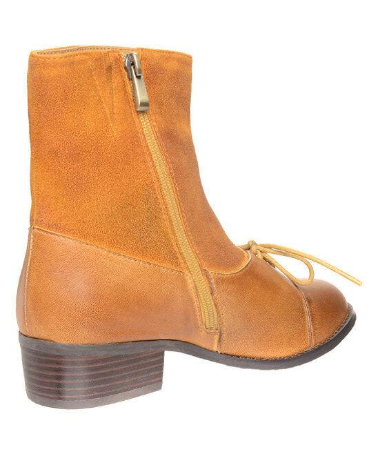 New Antelope  Mustard Lace-Up 342 Leder Stiefel Damens's 38 sz US 7 EUR 38 Damens's 6c3ae1