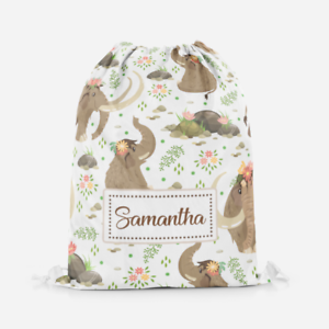 Personalised-Mammoth-Elephant-Girls-Kids-Drawstring-Bag-PE-Swimming-School-Bag