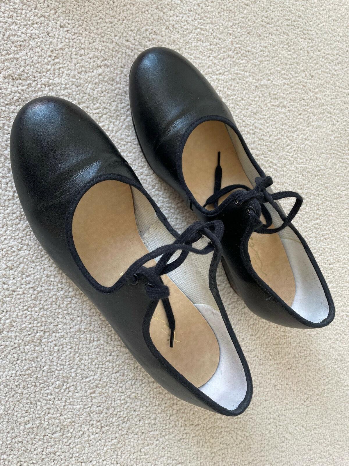 Katz Low Heel Tap Shoes - Size 6 - Black *VGC!*