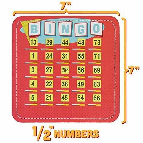 """25-pack EZ Clear 7/"""" Shutter Bingo Cards Reusable and Sturdy Retro Designs"""