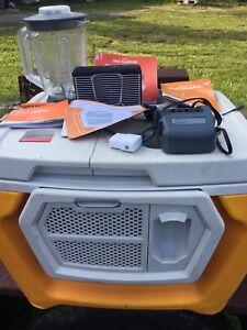 Coolest-Portable-Cooler-Classic-Orange-Bluetooth-Speaker-Blender-Charger-ORG60