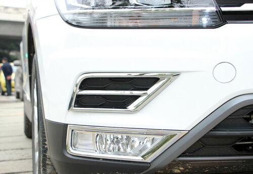 2016-2018 Gen ABS Vorne Nebelleuchten Abdeckungskreise 4 Stück für VW Tiguan 2
