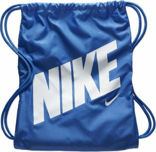 Nike YA Scuola Gym Sack Gym SAC Kids Borsa a tracolla con coulisse-Nero/Bianco