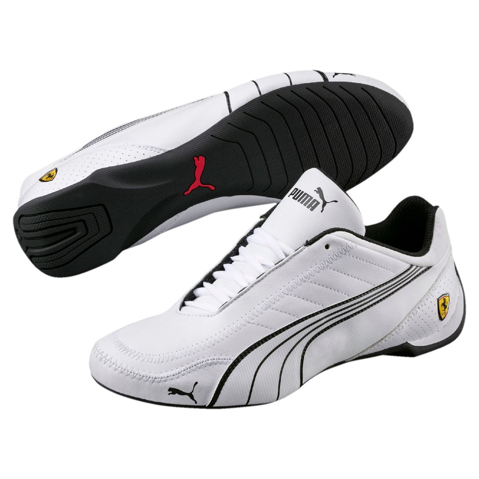 Nuevo Para Hombre Puma Ferrari Future Kart Motorsport Zapatos blancoo Negro 306170 Car 03