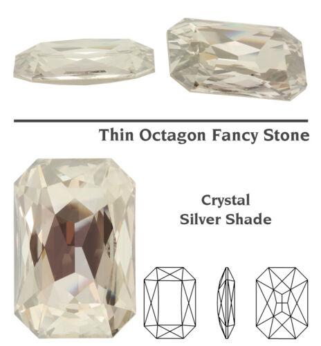 Original SWAROVSKI 4627 Thin Octagon 27mm Strass Steine Kristall viel Farben