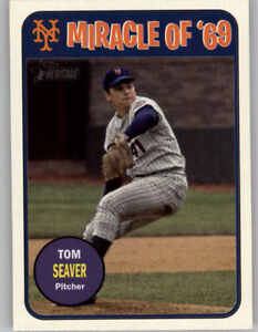 Tom-Seaver-2018-Topps-Heritage-High-Number-MIRACLE-OF-039-69-Mets-MO69-TS