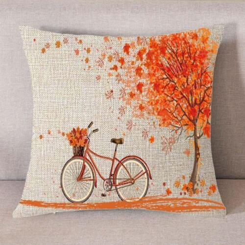 Home Decor Autumn Fall Big Tree Pillow Cover Maple Leaf Bicycle Throw Pillow Covers Home Furniture Diy Cruzeirista Com Br
