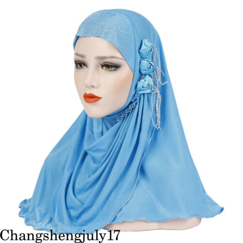 Muslim Women/'s Long Shawl Wrap Hat Cap HeadScarf Hijab Underscarf Headwear Scarf