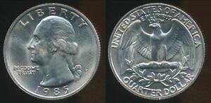 United-States-1985-P-Quarter-1-4-Dollar-Washington-Uncirculated