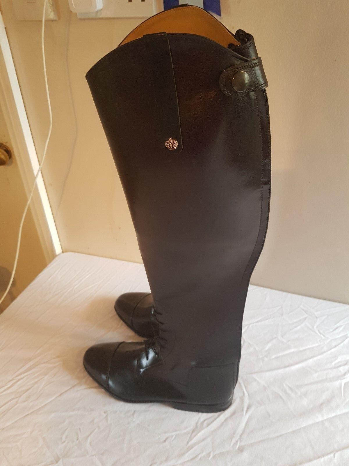 Konig long leather riding Stiefel uk 6 1 2 schwarz