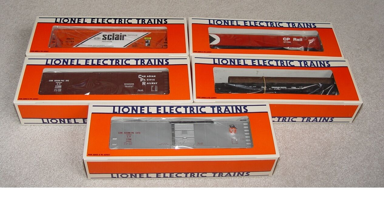 1989 Lionel CP Rail Gondola Reefer Box Car Hopper 17200 17300 17400 17500 17107