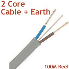 H6243B 1.5mm² LSF 3 Core and Earth Cable White Various Lengths Available #698