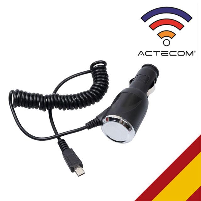 ACTECOM® CARGADOR 1A REAL COCHE MECHERO MICROUSB COMPATIBLE SMARTPHONE MOVILES
