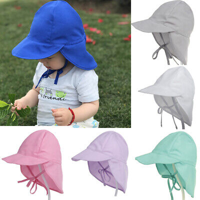 Baby Sun Hat Boys Girls Legionnaire Cap Chin Strap Summer Beach Hat 9-24 Months