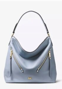 2ca02ca93bac Michael Kors Evie Large Hobo Shoulder Bag Pebbled Leather Color-Pale ...