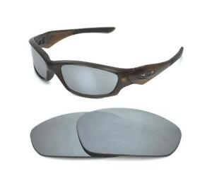 NEW POLARIZED CUSTOM SILVER ICE LENS FOR OAKLEY STRAIGHT JACKET 2007 ... 230f7503d568