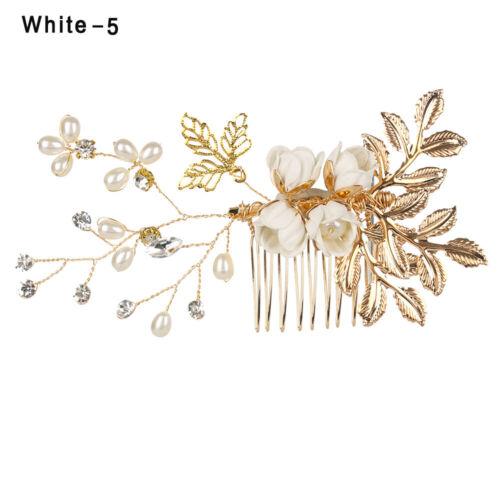 Bride Hair Jewelry Hair Combs Bridal Clips Flower Hair Pin Leaves Tiara