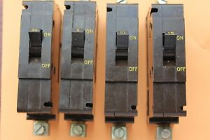 Crabtree Type C50 C-50 M4.5 type 2 circuit breakers 5A 10A 15A 30A