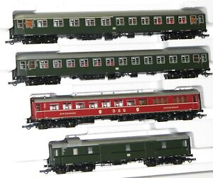 Roco-H0-51313-2-Personenwagen-Set-der-DB-in-Epoche-III-4-teilig-NEU