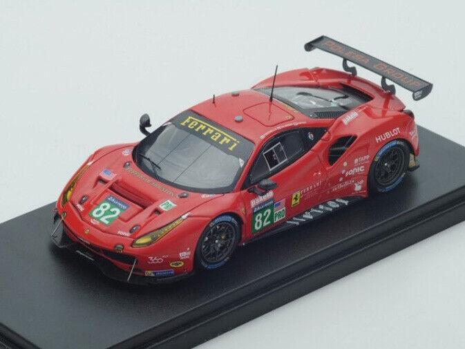 Look Smart 1 43 LSLM68 Ferrari 488 GTE  82 RISI Competizione Le Mans 2017 NEW