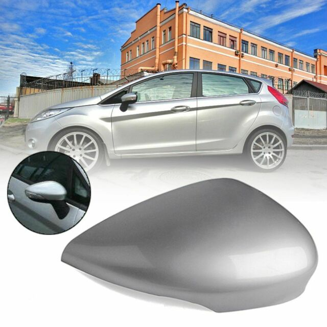Pair of Front Door Rearview Wing Mirror Cover Cap Chrome for Fiesta MK7 2008-2017 Left /& Right