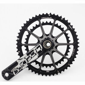 Litepro-EDGE-Hollow-Double-Crankset-53T-39T-BCD-130mm-GXP-BB-Road-Folding-Bike