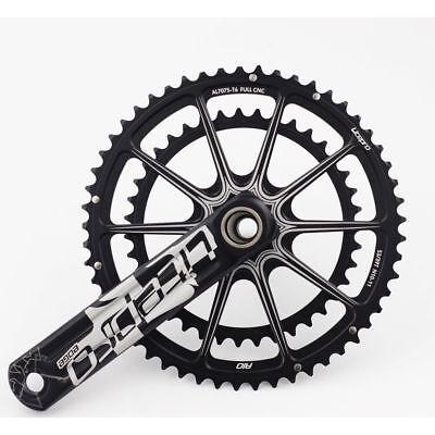 Litepro EDGE Hollow Double Crankset 53T//39T BCD 130mm GXP BB Road Folding Bike