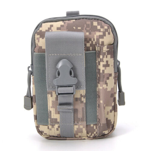 Mens Ourdoor Belt Waist Pack Mini Military Molle Pouch Bum Bag Sports Camouflage