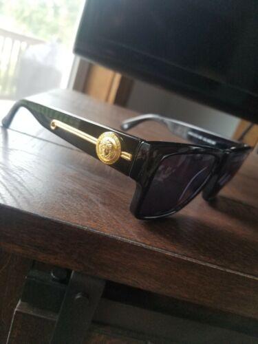 Vintage Gianni VERSACE Sunglasses 372 DM Black - image 1