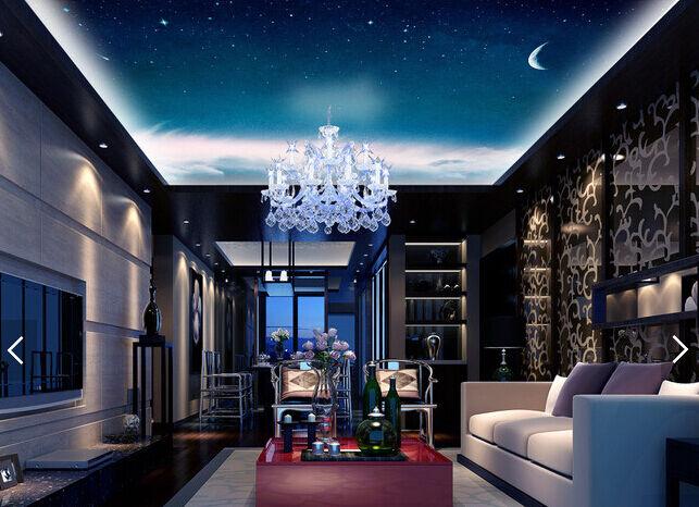 3D Mond, Wolken, Sterne 28 Fototapeten Wandbild Fototapete BildTapete Familie DE