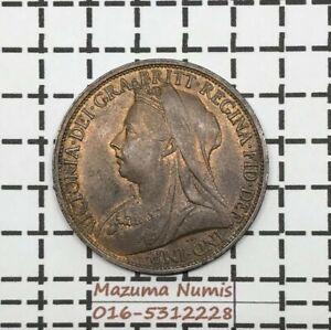 Mazuma *FC01 Great Britain Victoria 1896 One Penny UNC BN