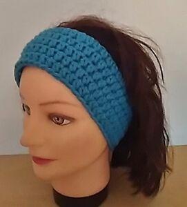 Stirnband-blau-Haarband-Haarschmuck-Kopfband-Kopfschmuck-Geschenk
