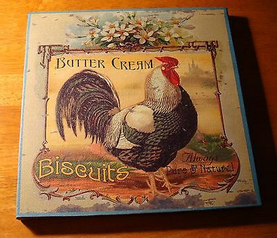 Ercream Biscuits French Country Style Rooster Kitchen Sign Home Decor New