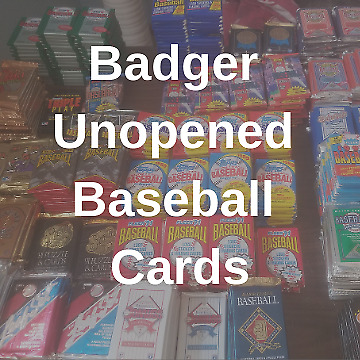 Badger Unopened Baseball Cards
