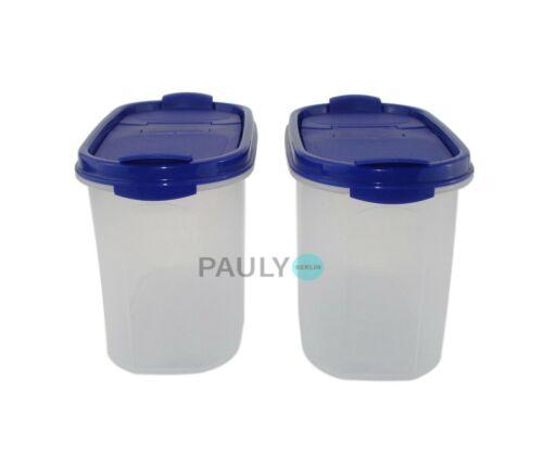 Tupperware Eidgenosse 2x 1,1 L Bleu avec verse La farine Boîte réserve modulaire A 62
